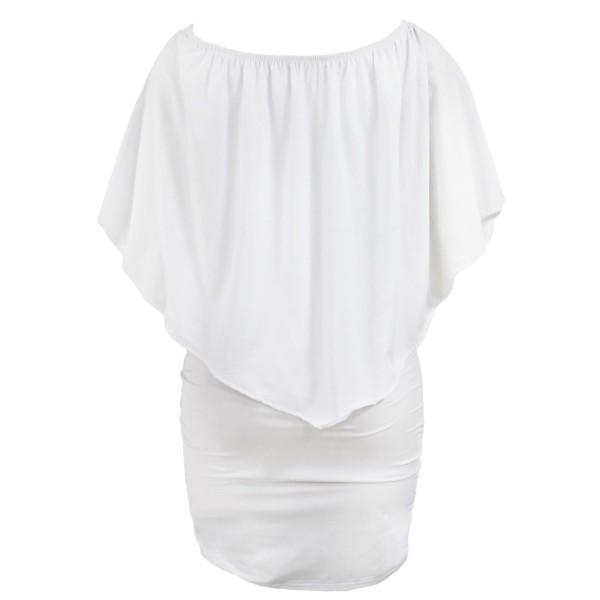 Multiple Dressing Layered White Mini Dress