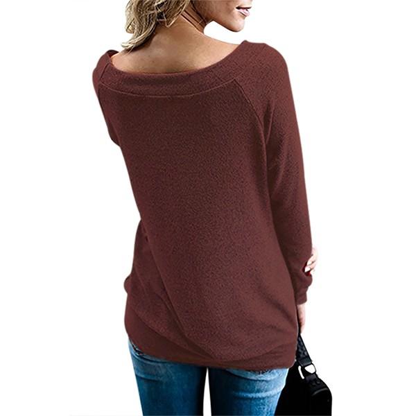 Wine Women's Off Shoulder Tunic Top