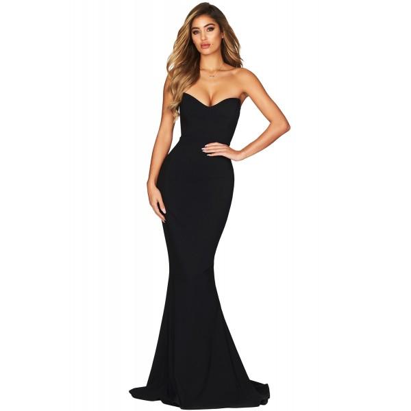 Black Strapless Sweetheart Neckline Mermaid Gown