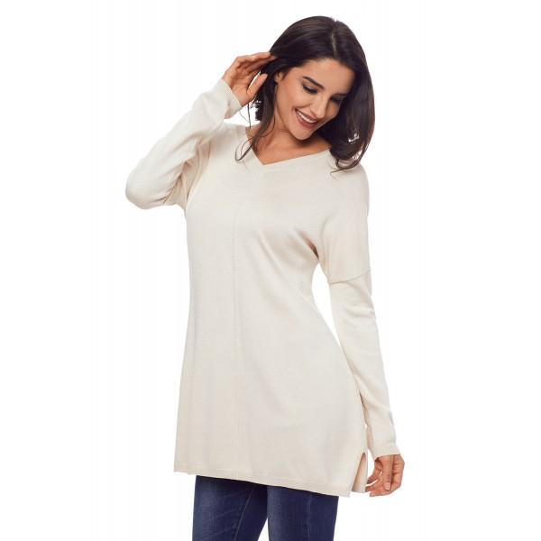 Apricot Soft V Neck Sweater