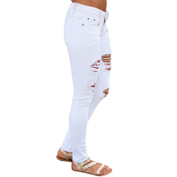 White Distressed Jeans for Women